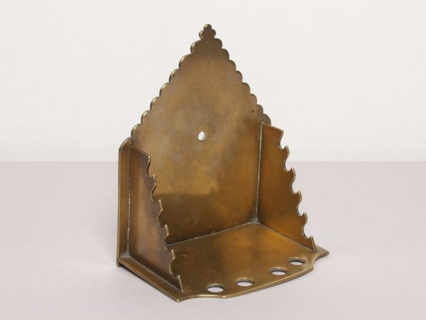 419: Metalware: 18th C. Brass Clay Pipe Rack