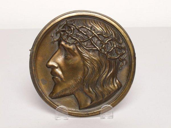 420: Metalware: Cast Bronze Tondo Plaque