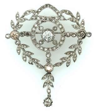 Art Deco Platinum & Diamond Brooch