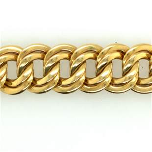 Italian 14K Yellow Gold Link Necklace