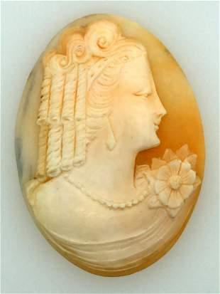 Victorian Italian Unmounted Shell Cameo