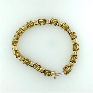 Vintage 18K Yellow Gold & Natural Color Diamond