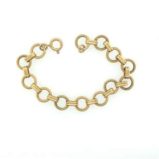 18K Yellow Gold Hollow Circle Chain