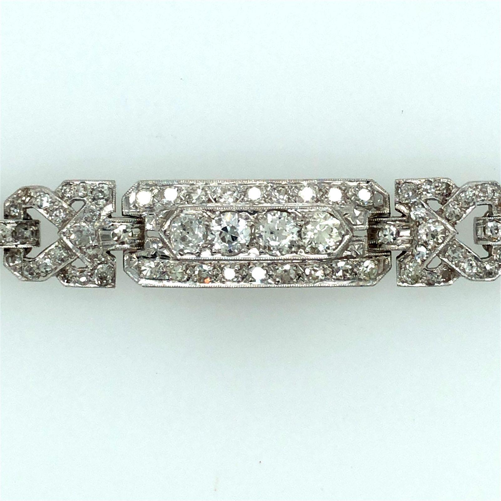 Art Deco Platinum Diamond Bracelet