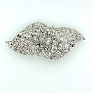 Art deco platinom dimond brooch