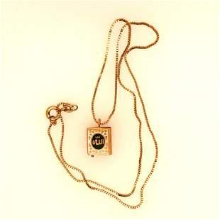 18K Yellow Gold Koran necklace