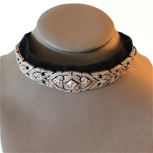 Platinum Art Deco Diamond CHOKER