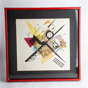 On White ll by W. Kandinsky Lithograph
