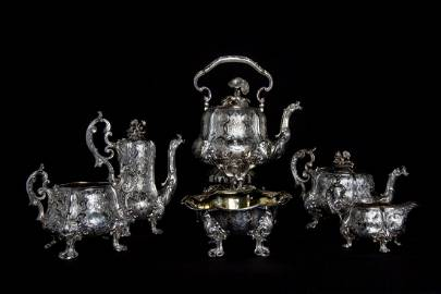 1850 FRENCH ODIOT SILVER TEA AND COFFEE SET 8.65 Kg