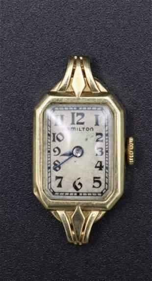14K Gold Antique Hamilton Women's Watch