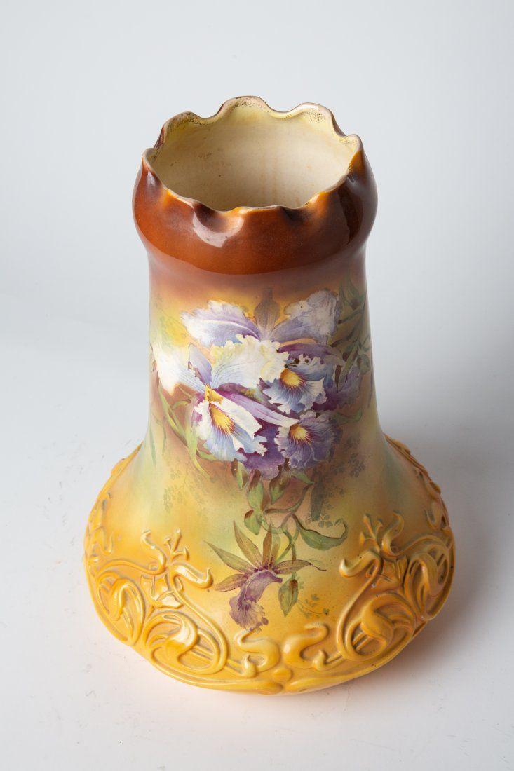 Huge Early 20th C Royal Bonn German Porcelain Vase