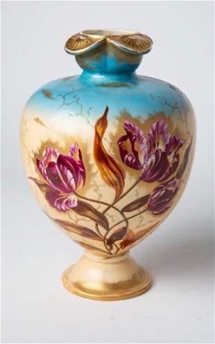 Royal Bonn Germany Hand Painted Art Pottery Vase