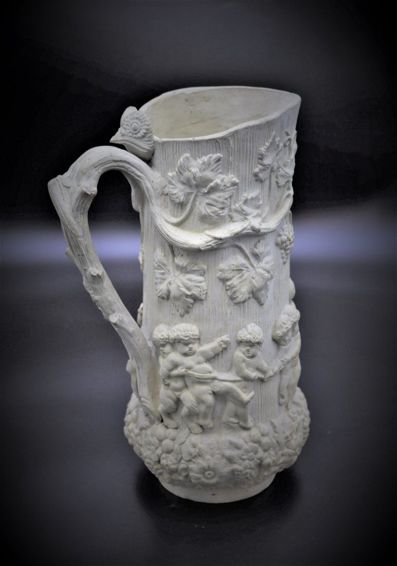 Vintage Italian Unglazed Pottery Pitcher Vase