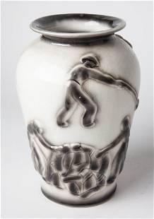 Vintage JUDAICA Pottery Israeli Jewish Porcelain Vase
