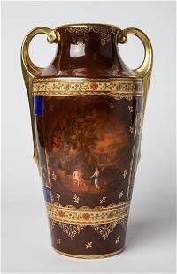 Vienna Hand Painted Gold Gilt Austrian Vase