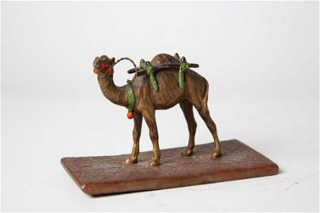 Late 19thC Coronet Austrian Orientalist 'Camel' Bronze