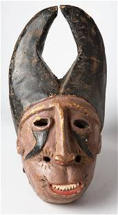 Antique Indonesian Ancestral Native Mask - Naive Art