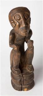 RARE ABORIGINAL Ancestral Australian Wood Sculpture