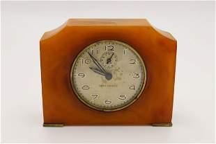 Vintage Mid Century BAKELITE Table Clock