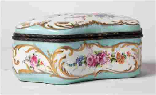 Antique French Serves Hand Painted Box