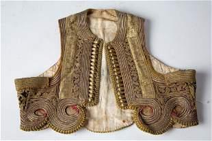 RARE Antique Ottoman Silver Thread Embroidered Vest