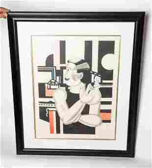 Fernand Leger Untitled Framed Lithograph 19 in x 25 in