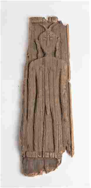RARE PAPUA NEW GUINEA Wood Board Sculpture Figure