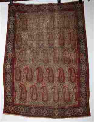 Antique Boteh Design SENNEH Persian Rug 4'8 x 6'2
