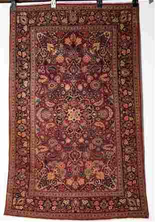 Fine Persian 1940's Kashan 4'3 x 6'8