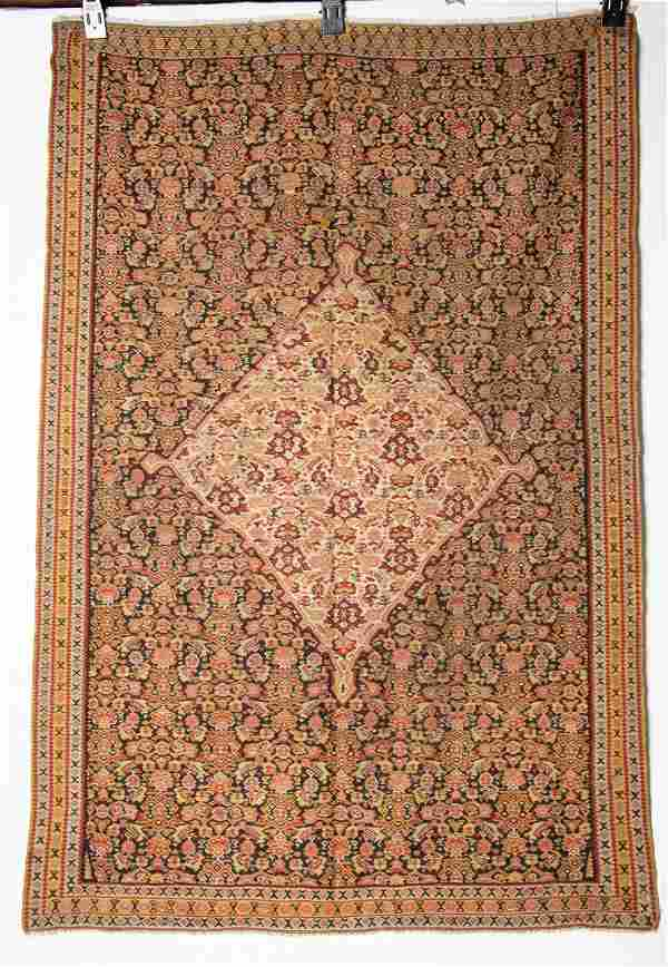 Fine Antique Persian Senneh Kilim Rug 4'4x 6'3