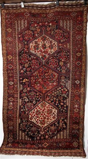Antique Persian Qashqai Tribal Rug 5'6 x 9'2