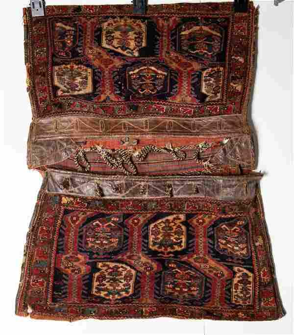 Fine Antique Qashqai Shiraz Saddle Bag Rug 2'11 x 3'9