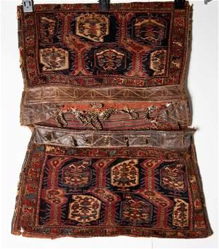 Fine Antique Qashqai Shiraz Saddle Bag Rug