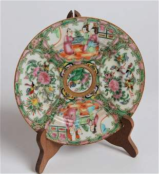 Early 20th C Chinese Famille Rose Medallion Plate