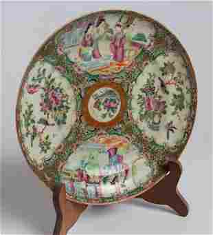 20th C Chinese Famille Rose Medallion Plate