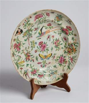 Early 20th C Chinese Hand Painted Dish