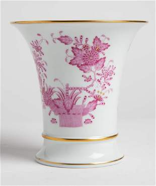 Herend Hungary Chinese Bouquet Purple Flower Pot