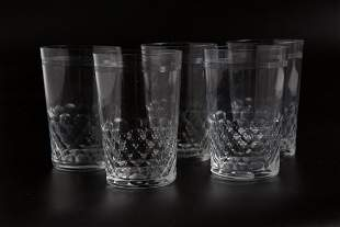 Vintage French BACCARAT Crystal Cups (5)