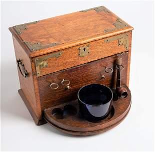Vintage Oak Pipe Box