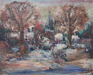 Untitled Canadian Spring Scenery Acrylic on Linen
