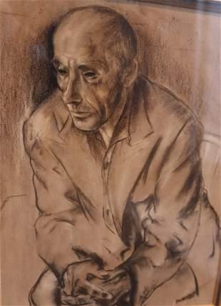 Louis MUHLSTOCK Jewish Canadian Artist ETCHING 1939