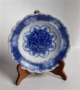 Antique English Flow Blue Plate