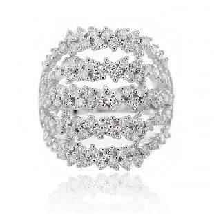 Multi- Band Round Diamond Fashion Ring in 18K White