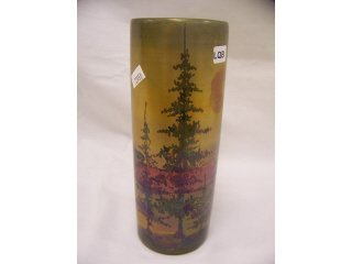"""5007: Unmarked Weller art pottery """"La Sa"""" vase, with"""