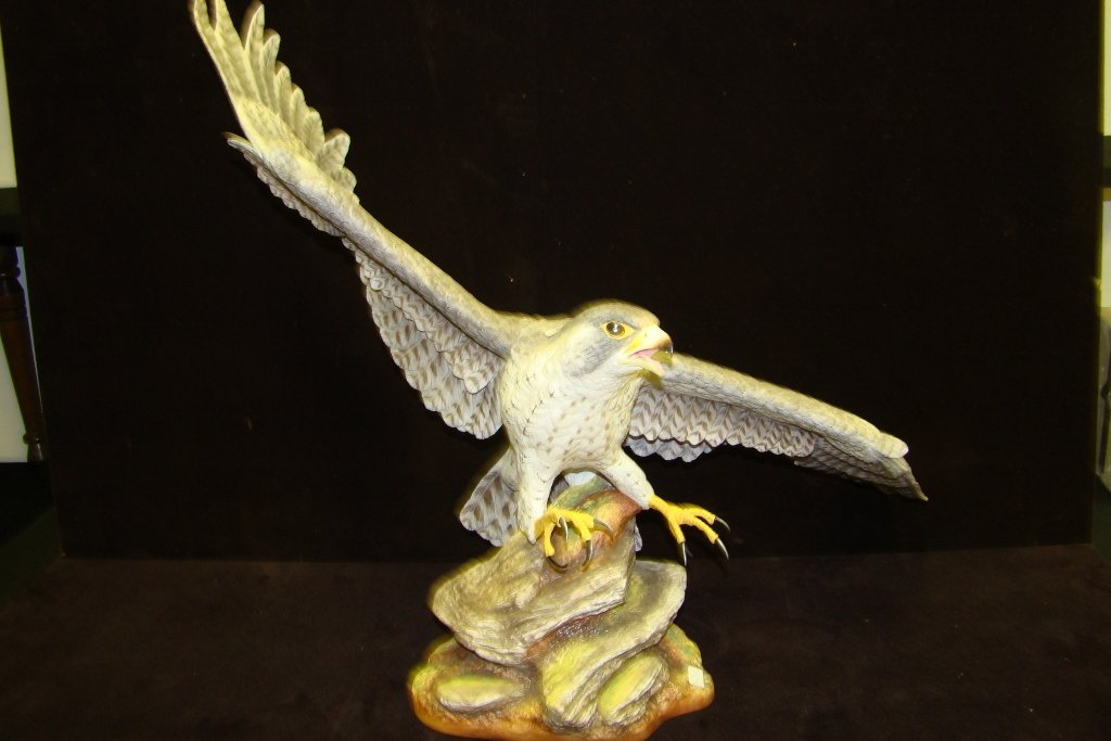 1: Boehm bone porcelain Peregrine Falcon, No. 7, year 1