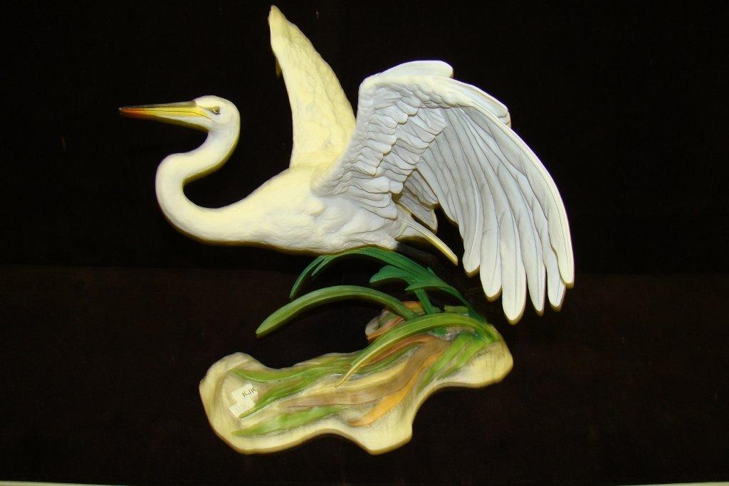 5: Boehm bird figurine The Great Egret, signed Helen Bo