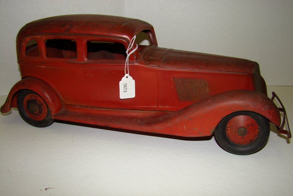 705: Pressed steel Cor-Cor Graham Sedan toy car c.1933;