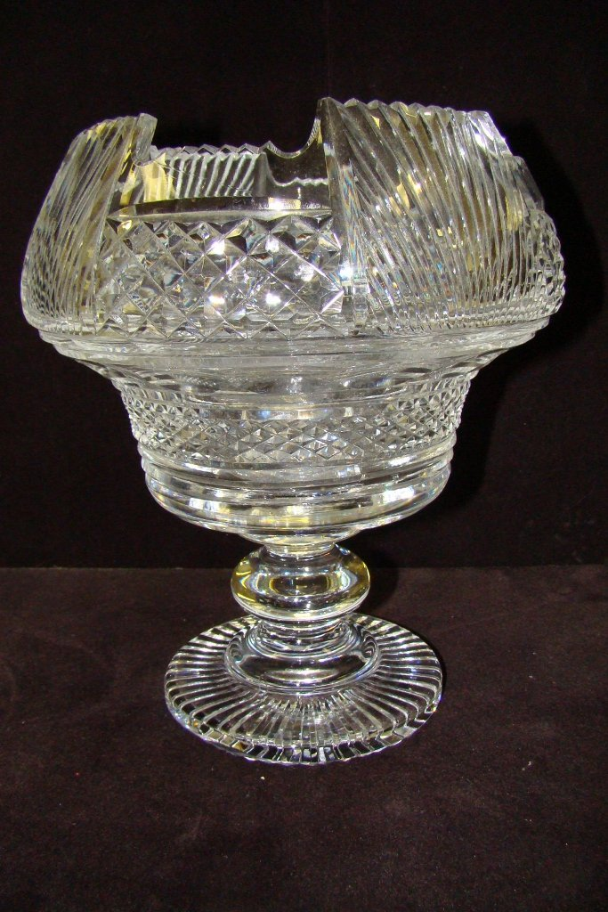 """7: Waterford master cut centerpiece bowl approx. 10"""" hi"""