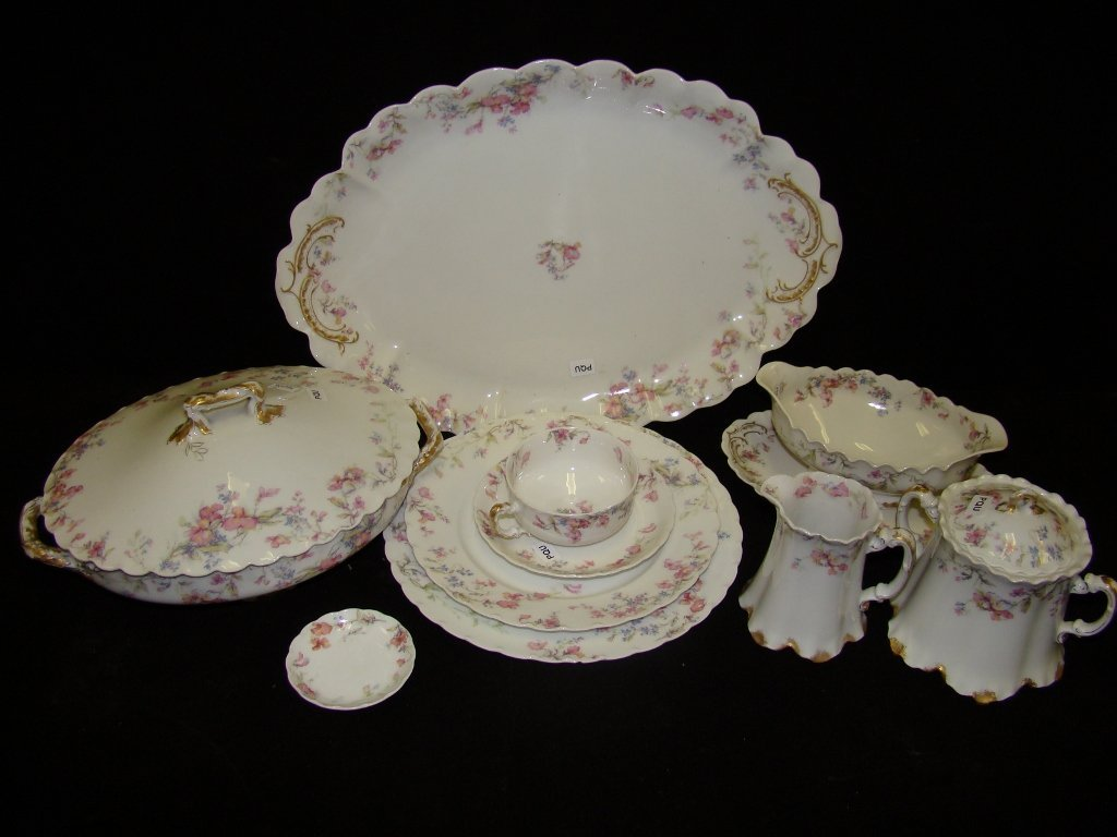 """8: A large group of Haviland china including ten 9 1/2"""""""