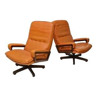 Arflex Swivel Lounge Chairs